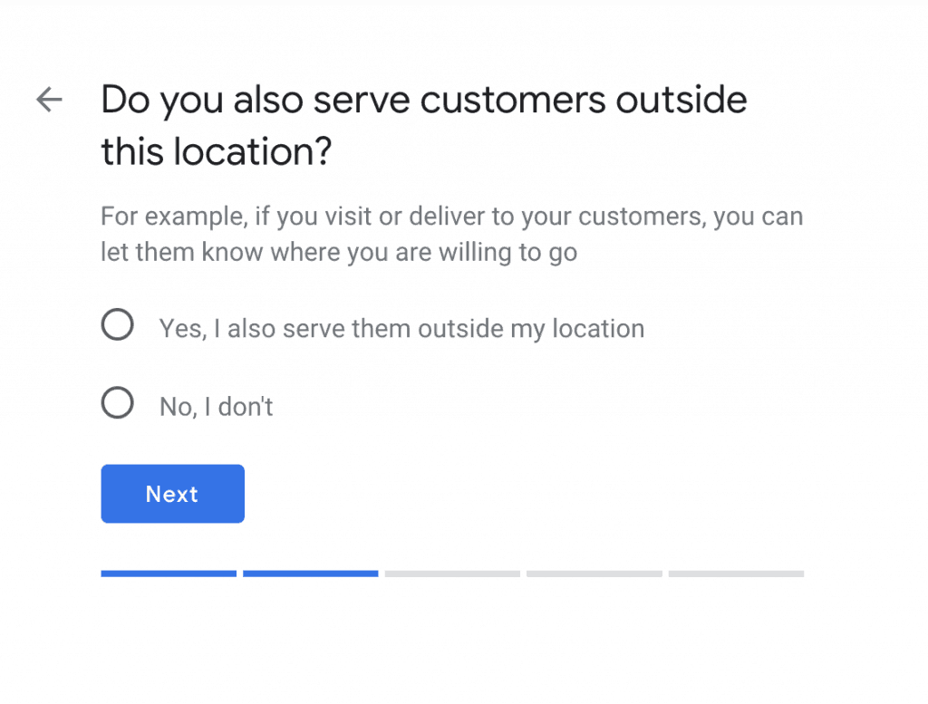 Choose the areas you server your customers