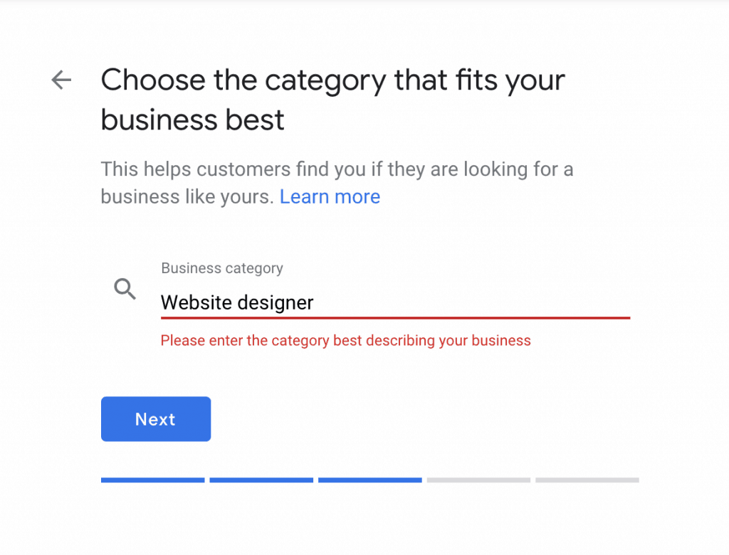 Choose the category that fits your business best